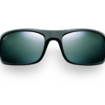 Maui Jim Grey Peahi Gloss Black Sunglasses